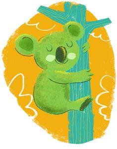 quick little koala doodle in ps Bear Paintings, Capybara, Animal Totems, Wombat, Children's Book Illustration, Retro, Nursery Art, Childrens Books, Art For Kids