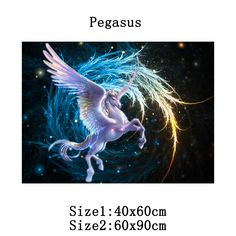 Aliexpress.com : Buy DIY Diamond Painting Pegasus Diamond Cross Stitch Embroidery Universe Square Drill 100% Full Home Decor Diamond pattern Hot Sale from Reliable decorative wall pattern suppliers on Fashion&House