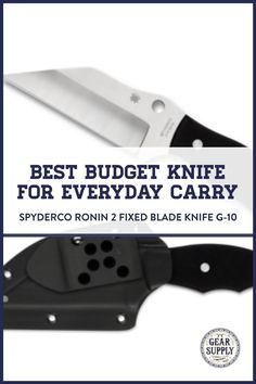Want the best budget EDC knife for everyday carry? Try the Spyderco Ronin 2 Fixed Blade Knife with G-10 handle for your urban everyday carry gear. Take advantage of this money-saving deal on everyday carry premium pocket knives while supplies last! Explore top-rated budget-friendly compact lightweight utility knives and other essential EDC gear at affordable prices from Gear Supply Company. #everydaycarry #edcknives #pocketknives #urbaneverydaycarry Edc Fixed Blade Knife, Edc Knife, Ronin 2, What Is Edc, Prepper Supplies, Urban Edc, Everyday Carry Items, Urban Bags, Edc Bag