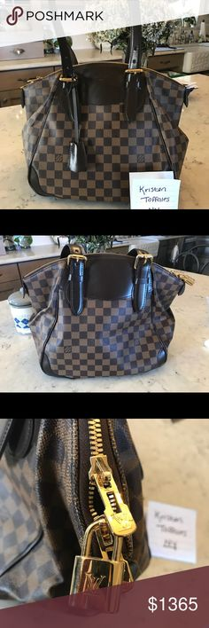 "Louis Vuitton Verona Mm Damier Ebene 🧡 Verona Mm Damier Ebene  🧡12""L x 11""H x 8""W  🧡 Amazing condition, only used once or twice with the only sign of wear being the stiffness from being stored for so long.   🧡 Date Code SD3180 Louis Vuitton Bags Shoulder Bags"