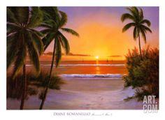Sunset Sail Art Print by Diane Romanello at Art.com