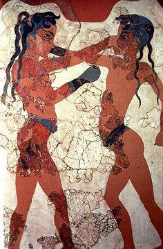 Pugilato tra ragazzi; 1425-1170 a.C., età tardopalaziale; affresco; Thera, isola di Santorini; Museo Archeologico Nazionale, Atene.