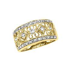 10K Yellow Gold 1/5 ct. Diamond Fashion Ring