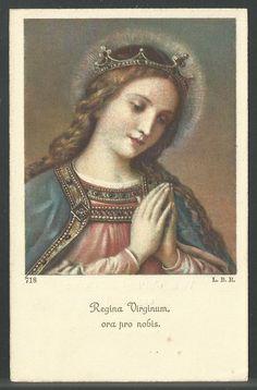 Queen of Virgins, pray for us. Divine Mother, Blessed Mother Mary, Blessed Virgin Mary, Catholic Prayers, Catholic Art, Religious Art, Mary Magdalene And Jesus, Virgin Mary Art, Catholic Pictures