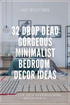 32 Minimalist Bedroom Ideas | Minimalist bedroom Minimalist room Bedroom organization diy Minimalist Bedroom Small, Minimalist Home Decor, Minimalist Living, Minimalist Lifestyle, Diy Home Decor On A Budget, Affordable Home Decor, Mismatched Furniture, Bedroom Organization Diy, Declutter Your Home