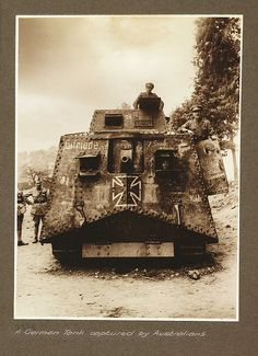A German Tank captured by Australians by National Media Museum, via Flickr