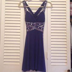 Adrianna Papell Semi Formal Blue Holiday Dress