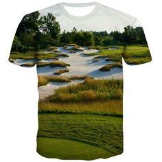 Golf T Shirts, 3d T Shirts, Printed Shirts, T Shirt Printer, City Streets, Exterior Colors, Fashion Prints, Casual, Mens Tops