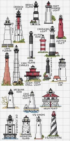 Lighthouse Cross Stitch [Pattern]
