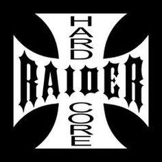 Hard Core Raiders 4 Life Iron Cross Decal/Window Sticker