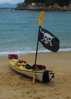 Staking our claim on the beach by Miss Basil85, via Flickr
