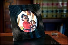 Vintage gifts home decor: Recycled Vinyl Record Picture Frame  Price: $17.99