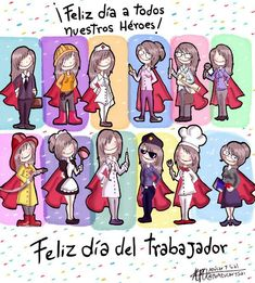 Feliz dia del trabajador! International Workers Day, Mexican Humor, Festival Celebration, Bae Quotes, Cellphone Wallpaper, Phone Wallpapers, Happy Day, Baby Boy Shower, Illustrators