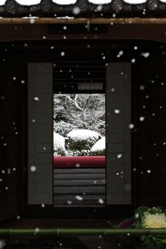 Snowy garden of Shisendo at Jozan-ji temple, Japan,1641年(寛永18年)石川丈山の隠棲。