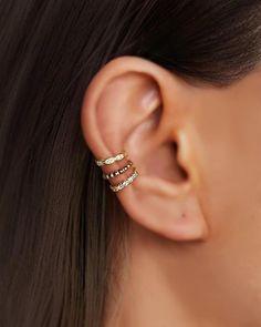 Tragus, Helix Cartilage Earrings, Fake Piercing, Ear Cuff Piercing, Ear Piercings Helix, Ear Cuff Jewelry, Cuff Earrings, Jewlery, Filigree Jewelry