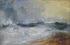 j.m.w. turner - oil on canvas - waves breaking against the wind (c. 1840)