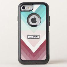 Gradient Chevrons OtterBox Commuter iPhone 8/7 Case - pattern sample design template diy cyo customize