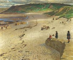 Newlyn and Staithes School of Painters: Laura Knight - Sennen Beach - Cornwall