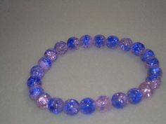 Purple and pink stretch Bracelet