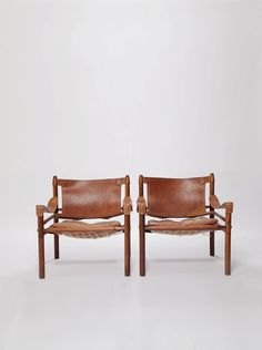 An exceptional pair of Arne Norell safari chairs in by 506070