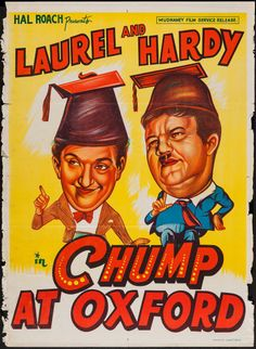 Movie Posters:Comedy, A Chump at Oxford (Mudnaney Film Service, R-1950s). Image #1