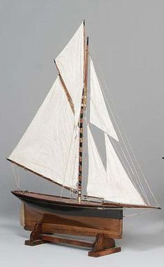An early Gaff rigged Pond Yacht