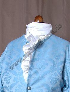 Halsbinde und Rüschenhemd