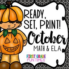 This Fall Activities Ready, Set, Print Halloween Activities and Halloween Math has 80 pages of ELA and Math practice perfect for homework or morning work. We use these throughout the month of October.Updated 9/16 - download again if you already own - 10 pages added!Primary Math, Reading and Writing Practice for Primary Grades80 pages to print and go!Please download the preview to see the entire packet.Covers the following:True/False MathTally MarksPlace ValueMissing NumbersSkip Counting…