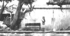 anime-black-and-white-gif-manga-rain-favim-com-368753.gif (500×260)