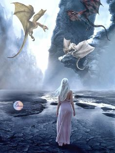"""Mother Of Dragons /Daenerys Targaryen † † Made By Sylvia D… ~GoT""""s .Mother Of Dragons /Daenerys Targaryen † † Made By Sylvia Digital Art .Com ~TY Hun V""""""""""""""""V – Favoritt motetips Dessin Game Of Thrones, Arte Game Of Thrones, Game Of Thrones Dragons, Drogon Game Of Thrones, Fantasy World, Dark Fantasy, Fantasy Art, Daenerys Targaryen, Khaleesi"""
