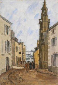 Robert Louis Antral La rue Monte-au-Ciel - Douarnenez — Wikipédia