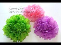 Pom pom carta velina tutorial - How to make tissue paper pom pom - Weddi...