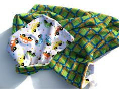 Minky Baby Blanket White Multicolor Cars by DesignsByDiBlankets, $47.00