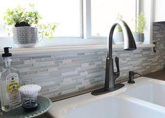 Grau Und Weiß Küche Makeover Wasserhahn Küche