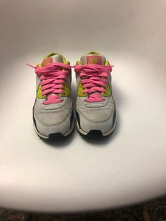 369302c8bf83 Girls Grade School Nike Air Max 90 Running Shoes 345017-019 Pure Platinum  Sz 6Y