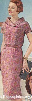 Blouson Silhouette Dress 1959