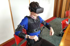 Smart jacket and VR headset let you pilot a drone with your body - The goal is to make people fly without ever leaving the ground says Dario Floreano at the Swiss Federal Institute of Technology (EPFL) who created the jacket. http://ift.tt/2s4Z9BR