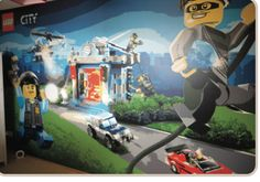 This personalised Lego wallpaper was created for a child's bedroom by OP Graphics using a latex printer.