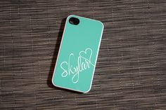 Tiffany Blue in the Sky Monogram iPhone Case Available by hhprint