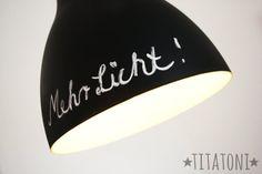 titatoni ♥ DIY : Paint it black! {Upcycling tuesday}  Ist was für meine Schreibtischlampe...