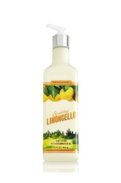 Sparkling Limoncello Luxury Hand Lotion - Soap/Sanitizer - Bath & Body Works This really smells like natural lemon! You use so little, it wil last a long time.