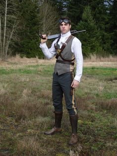 Joss Whedon helmed steampunk TV show starring Tahmoh Penikett, please. (Utilizing this costume, if you don't mind.)