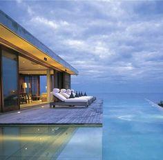White luxury house in Mykonos, Greece - Terrace Pool
