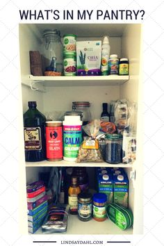My top picks for organic and healthy foods can be found on the shelves of my pantry. Take a look!