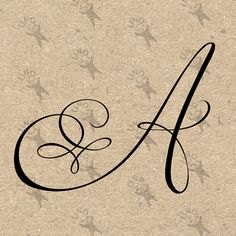 Monogram Initial Letter A Instant Download Digital от UnoPrint