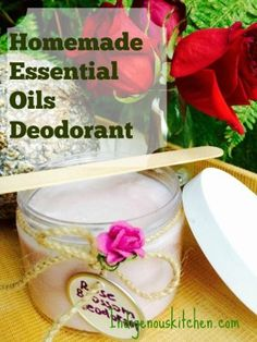 Easy Homemade Deodorant with essential oils and baking Soda
