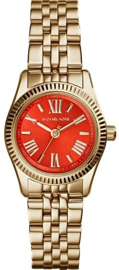 Michael kors gold watch with orange face Cute dainty watch. Gold with orange face Michael Kors Other Stainless Steel Watch, Stainless Steel Bracelet, Michael Kors Gold, Michael Kors Watch, Gold Bracelet For Women, Swiss Army Watches, Hand Watch, Pink Agate, Cool Watches
