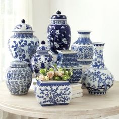 Blue and white porcelain dates back to 14th century China. The look was so universally popular, Europeans imported it by the shiploads, finally learning how to produce porcelain on their own in the 18th century. Our Blue & White Vases celebrate the...