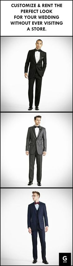 Rent high quality, fashionable tuxedos for your wedding! Build your perfect tux online with Generation Tux. Invite & manage groomsmen. Delivered To Your Door!