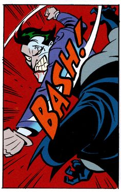 Joker vs. BatmanBatman: Mad Love (Feb. 1994)Art by Bruce Timm & Glen Murakami Words by Paul Dini